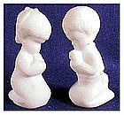 Fenton satin white Praying Boy / Girl # 5100