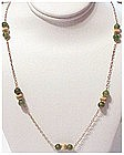 14K & jade bead necklace  (21