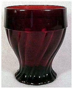 Royal Ruby 10 0z Swirl tumbler by Anchor Hocking