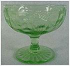 Cameo- green Anchor Hocking low sherbet (3 1/8