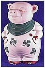 Shawnee Shamrock Smiley Pig cookie jar (USA-vintage)