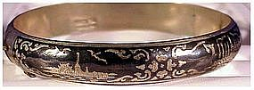 Siam Niello sterling bangle bracelet