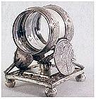 Victorian Meriden Oriental fans Butterfly napkin ring