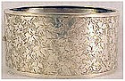 Victorian sterling hinged bangle hand engraved bracelet