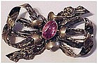 Hobe sterling bow brooch / pin