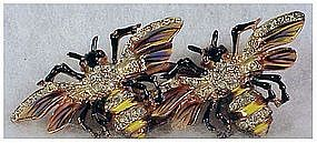 "CoroCraft Adolph Katz sterling 'queen bees"" duette"