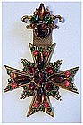 Florenza pin with hanging maltese cross