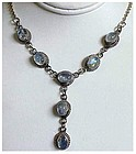 Moonstone  ( 5.5 cts)  sterling lariat necklace - 16