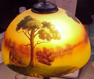 Jeanette reverse painted table lamp