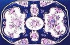 Worcester Dr. Wall Blue Scale Platter c 1770
