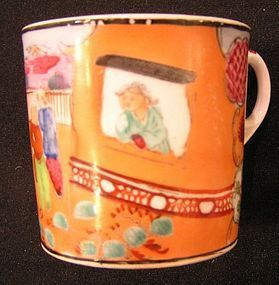 Newhall Porcelain Can with Boy-In-Window