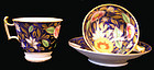 Coalport Porcelain Cobalt Ground Trio from John Ros