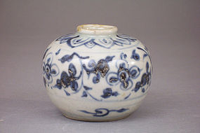 15th-16th C. Annamese Blue and White Jarlet, 7.62cm dia