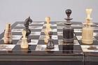 Vietnamese MOP Board, Fr. Regence Style Horn Chess Set