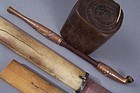 Japanese Meiji era Kinko Kiseru and Wood Tonkotsu