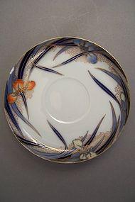 Fukagawa Iris pattern 5 3/8 inch tea saucer dish