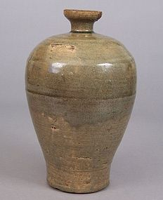 Korean Early Koryo Dynasty Celadon Maebyeong Vase