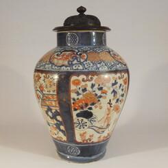 Rare Genroku Era Imari Porcelain Bijin Ga Vase