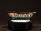 Late Qing or Republic Famille Rose Quatrefoil Bowl