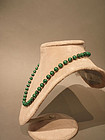 8mm Malachite Bead Necklace 20""