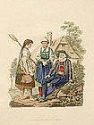 Costume of Austria Inspruck Peasants 1804