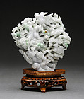 Small Burmese Jadeite Openwork Immortals Group