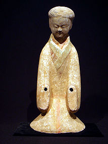 Han Dynasty Painted Pottery Kneeling Court Lady