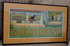 RARE 1921 GOLD DUST TWINS Washing Powder Trolley Sign