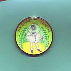 1957 New Orleans Mardi Gras Jester Hologram Pin Back