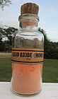 Fabulous Early Chemist Pharmacy LEAD OXIDE Bottle FULL