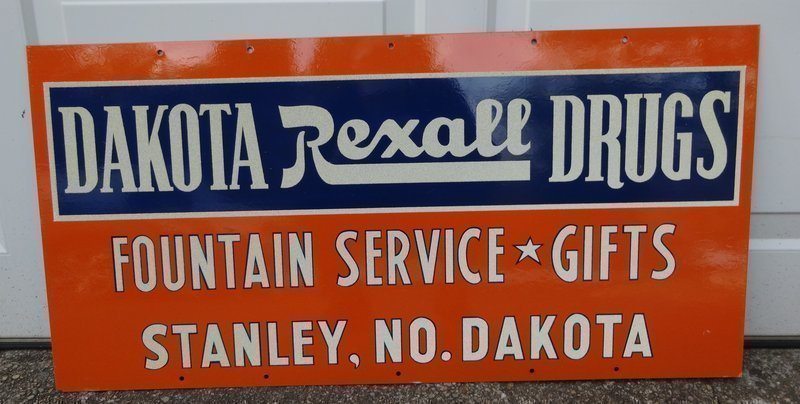 Fab 1955 Rexall Advertising Pharmacy Drug Store Sign