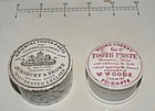 Two 19thC English Ceramic Tooth Paste Dental Containers