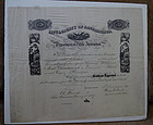 Very RARE 1859 San Francisco Teacher Principal Diploma