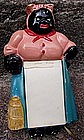 1940s Chalkware Black Mammy Memo Paper Holder