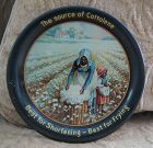 1920 Black Memorabilia Cottolene Cotton Picker Tip Tray