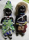 1940 Black Memorabilia Pair African Native Bead Dolls