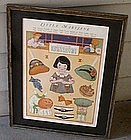 Halloween 1930 Uncut Framed Little Mary Jane Paper Doll