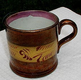 Darling 19thC English Copper Lustre Child's Mug or Cup
