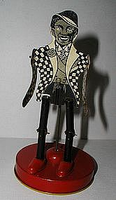 1930 USA Dancing JIGGER Black Man in Tuxedo Tin Toy