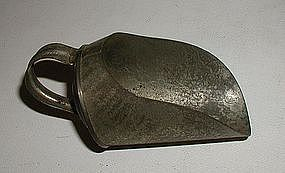 Tiny 19thC New England Tin Grain Flour Candy Scoop