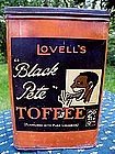 "Wonderful RARE 1930s English ""Black Pete"" Toffee Tin"