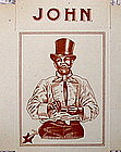 "Fab 1920 Rare Unused Belgian Cigarette Cigar Box ""JOHN"""