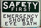 "C1950 Ptd Metal Laboratory ""SAFETY FIRST"" EYE Sign"