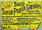 1880 VD Gonorrhea Gleet Kidney CURE Drug Store Tin Sign