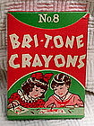 1940-50s MIB Bri-Tone No. 8 Box of School Art Crayons