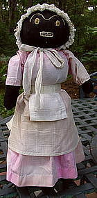 1920 Black Memorabilia Hand-Stitched Mammy Bottle Doll