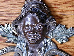 Wonderful 1920 Black Boy Johnny Griffin Brass Pipe Rack