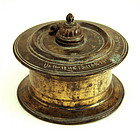 Antique Cast Bronze Inkwell