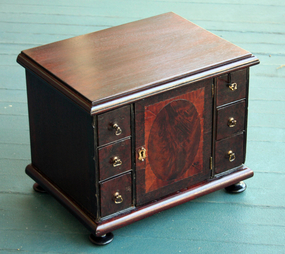 Antique English Desktop Cabinet or Jewelry Box