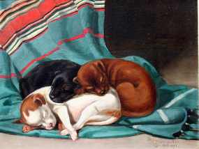 """Sleeping Puppies"" by J.H. Van Deventer"